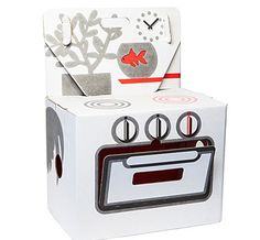 Cocorico Cooker Cardboard Play Kitchen by Kidsonroof -- To view further for this item, visit the image link. Cardboard Kitchen, Cardboard Play, Play Kitchen Sets, Mini Kitchen, Creative Kids, Kids Furniture, Doll Furniture, Handmade Toys, Decoration