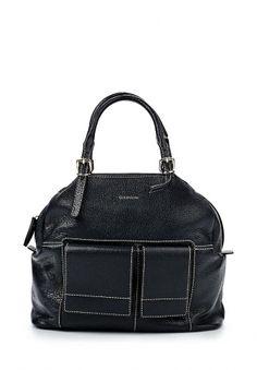 Стильная и качественная женская сумка от Gherardini. Аксессуар черного цвета выполнен из натуральной кожи. Особенности: два внешних кармана и внутренний, удобные ручки с пряжками, контрастная строчка. http://j.mp/1rEWyum