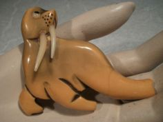 1940s Bakelite Walrus Pin Sea Jewelry, Mermaid Jewelry, Jewelry Box, Lucite Furniture, I Am The Walrus, Plastic Jewelry, Animal Jewelry, Sea Creatures, Lava