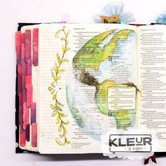 '... to all the world'  _________________ #art #ikmetliefde #finished #aquarelle #aquarel #watercolor #watercolour #windsorandnewton #biblejournaling #biblejournalingnl #bibleart #kleurjebijbel #craftbijbel