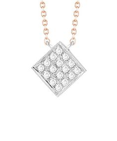 DANA REBECCA DANA REBECCA DESIGNS LISA MICHELLE 14K ROSE GOLD DIAMOND NECKLACE. #danarebecca # Dana Rebecca, Lisa, Rose Gold, Diamond, Silver, Color, Jewelry, Style, Swag