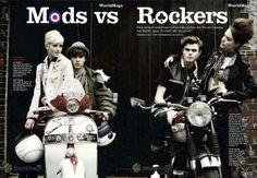 VESPA MX: Mods vs Rockers, Cosmopolitan Magazine.