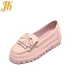J&K 2017 Cow Genuine Leather Women's Vulcanize Shoes School Casual Shoes Woman Pigskin Lining Thick Sole Pregnant Woman Shoes