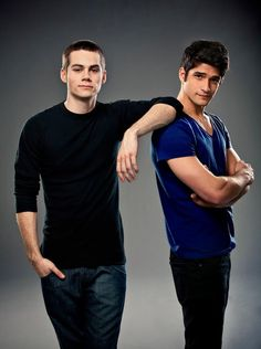 Dylan O'Brien & Tyler Posey Teen Wolf Season 2 Cast Photo
