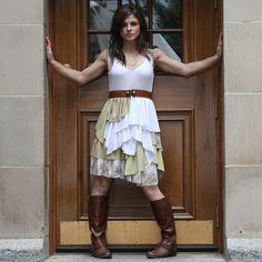 upcycled clothing . dress by pondhopper on Etsy, $168.00