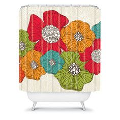 Flowers Shower Curtain, $89, now featured on Fab.