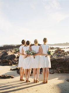 Who says bridesmaids can't wear white?