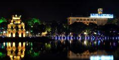 Hoan Kiem Lake, Hanoi at night