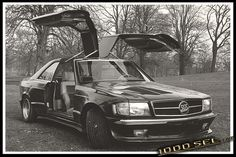 Mercedes Benz Gullwing by Styling Garage Mercedes W126, Mercedes Benz 500, Singer Vehicle Design, Benz S, Super Cars, Garage, Classic, Friends, Vehicles
