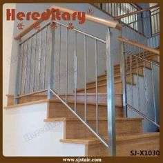 Stainless Steel Rod Balustrade with Wood Handrail in Stair Parts (SJ-X1014) from Shijue Metal Products Co., Ltd. Made-in-China.com Only $20 - $42 per Piece, Minimum Order 10 Pieces. (Price Est. 2/17)