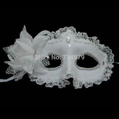 Party Masks for women lace Flower Masquerade girls Venetian Mask Lady Sexy white Masks