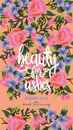 Isaiah 61:3 by French Press Mornings #bible #verse #typography