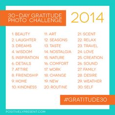 30-day gratitude photo challenge: 2014 edition - positively present