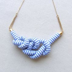 Fabric Rope Knot Necklace
