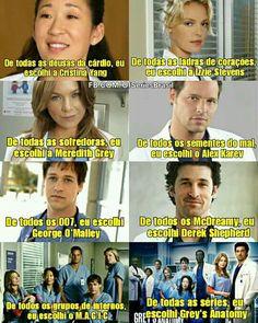 Izzie Stevens, Derek Shepherd, Cristina Yang, Meredith Grey, Frases Greys Anatomy, Grays Anatomy, Best Tv Shows, Movies And Tv Shows, Boy In Striped Pyjamas