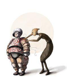 Om engstelige foreldre i DBMagasinet Roald Dahl, Funny Art, Love Art, Bullying, Science Fiction, Illustrators, Art For Kids, Fantasy Art, Horror
