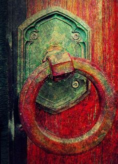 Red Door Knocker Photo by scilit on Flickr
