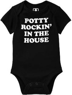 Humor-Graphic Bodysuits for Baby   Old Navy