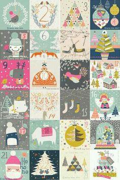 ideas for diy christmas cards printable advent calendar Printable Christmas Cards, Diy Christmas Cards, Printable Cards, Christmas Art, Christmas Projects, Christmas Countdown, Printable Planner, Free Printable, Xmas
