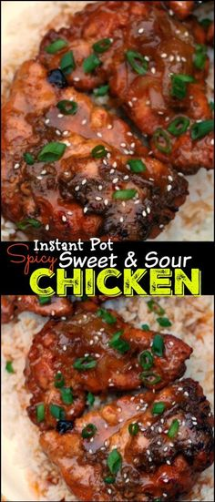This Instant Pot Spicy Sweet & Sour Chicken starts with FROZEN chicken breast and is ready in the pressure cooker in only 40 minutes!  This recipe blew my mind!  We LOVE this chicken over fried rice!
