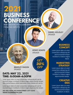 business conference 2021 event flyers, business templates, small business flyers, business event flyers. Business Flyers, Business Events, Event Flyers, Business Templates, Lorem Ipsum, Conference, Marketing