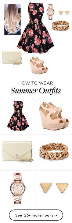 """Summer outfit"" by kay-paige0987 on Polyvore featuring moda, Marc by Marc Jacobs, STELLA McCARTNEY, Tory Burch, women's clothing, women's fashion, women, female, woman e misses"