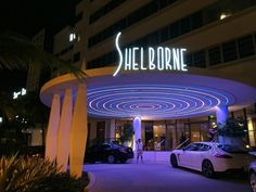 #MiMoMonday - The Shelborne is known for its glowing radiating lights at its entrance. #MiamiBeach #MiMo #Architecture #CollinsAvenue #ShelborneMiami #SouthBeach