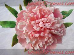 peony flower tutorial
