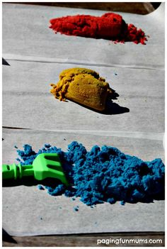 Here's a really simple way to Dye Regular Sand for Craft Projects - using just three ingredients!