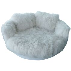 siberianfruit's save of Tibetan Longhaired Sheepskin Round Loveseat on Wanelo Room Design Bedroom, Room Ideas Bedroom, Bedroom Decor, White Loveseat, White Sofas, Loveseat Sofa, Sectional Sofas, Leather Sectional, Cute Furniture