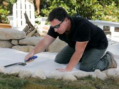 How to Create a Fieldstone and Sand Fire Pit Area : How-To : DIY Network