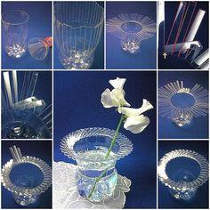 Cómo hacer un jarrón con botellas recicladas de plástico