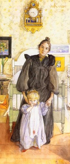 Karin and Kersti, by Swedish artist Carl Larsson. In the picture the artist's wife and daughter.