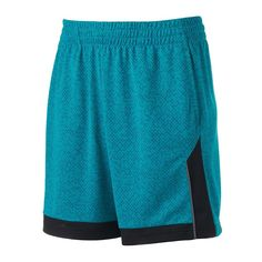 Men's Tek Gear Titan Basketball Shorts, Size: Medium, Turquoise/Blue (Turq/Aqua)