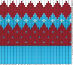 Tricksy Knitter Charts: бордо-голубой шапка by corneliorum