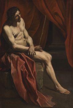 Gian Lorenzo Bernini (Italia, 1598-1680), Cristo burlado . Óleo sobre lienzo, 147 x 99,5 cm