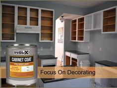 INSL-X Cabinet Coat is the ultimate finish for refurbishing kitchen and  bathroom cabinets.