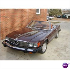 My dream vintage car! A chocolate brown with tan leather interior 1976 Mercedes 450 SL Convertible in mint condition! Sigh.............