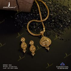 Get in touch with us on 990 444 3030 Jewelry Design Earrings, Gold Earrings Designs, Gold Jewellery Design, Gold Chain Design, Gold Ring Designs, Gold Mangalsutra Designs, Gold Jewelry Simple, Gold Necklace, Simple Necklace