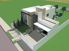residência Unifamiliar Modern Houses, Lofts, Building A House, Architecture Design, House Plans, Exterior, House Design, Home, Project Ideas