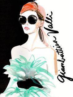 Couture Fashion Week 2015 - Giambattista Valli Illustration #fashion #illustration #GiambatistaValli