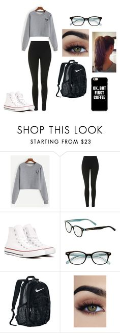 """""""School Outfit"""" by neongirlz5 on Polyvore featuring Topshop, Converse, Kate Spade and NIKE"""