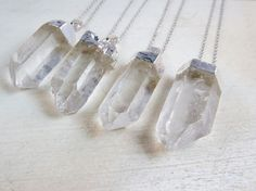 Bridesmaid gift, Crystal point necklace, crystal pendant, bridesmaid gift, energy stone, power stone, metaphysical necklace, initial charm