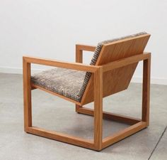 Wooden chair. I would want to make this for another seat in my basement: