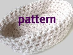 Baby Bowl Crochet Pattern. Newborn Chunky Photo Prop by PropShop --> Adorable