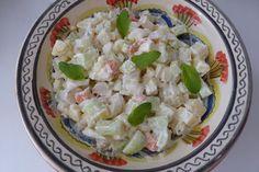 La Chef A: Ensalada fresca de patata y pepino Fresco, Pasta Salad, Cabbage, Grains, Vegetables, Ethnic Recipes, Blog, Cucumber, Salads