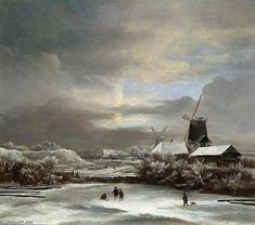 Paysage d hiver de Jacob Isaakszoon Van Ruisdael (Ruysdael) (1628-1682, Netherlands)