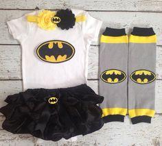 BatMan/Superhero/ Bat Girl bloomer set/Black Bloomer/First Birthday/First Halloween/Milestone/Pageant/CakeSmash/PhotoProp on Etsy, $59.99