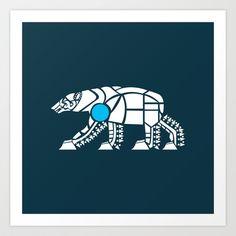 Polar Bear Art Print by Hinterlund - $18.00