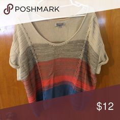 Cropped sweater This cropped sweater is perfect for a early fall day or a cold summer night!! It is very comfortable and is preloved with no signs of wear. 100% cotton Ecote Sweaters Crew & Scoop Necks